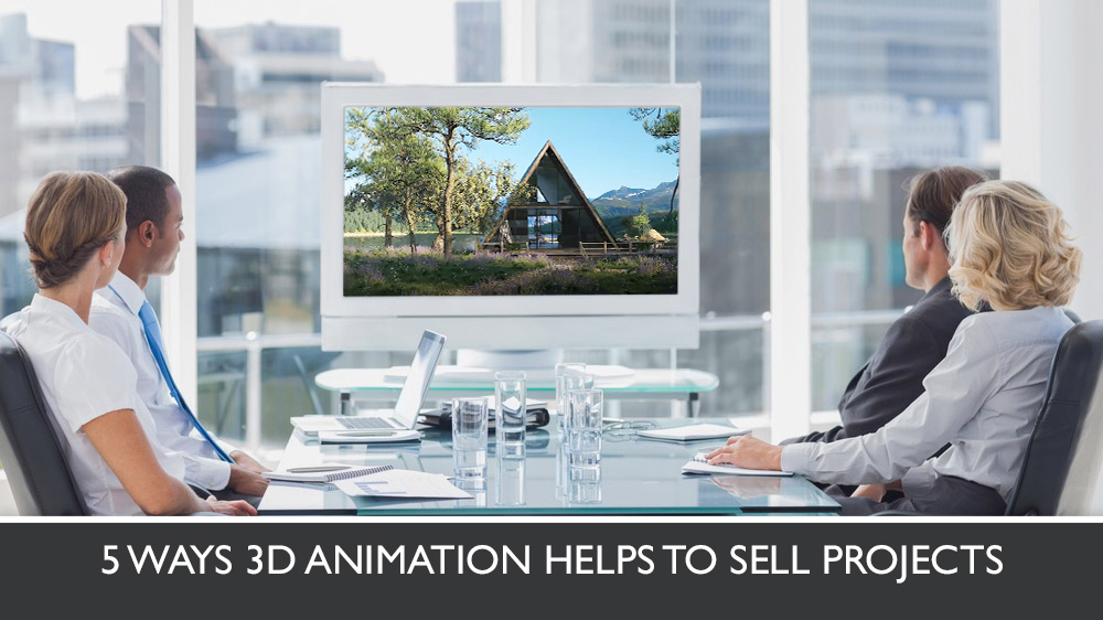 Architects and Clients Watching 3D Animation