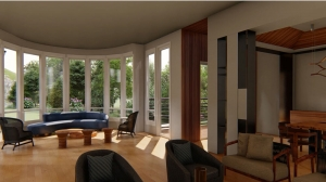 Architecture Animation Video Caption Of A Cottage Lounge