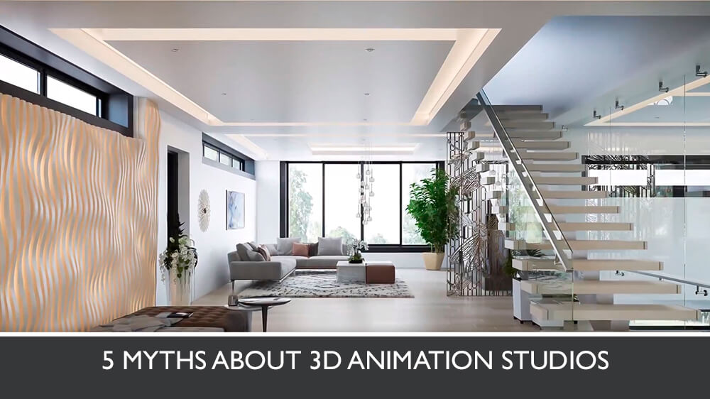 Photorealistic 3D Video Of A Modern House Interior