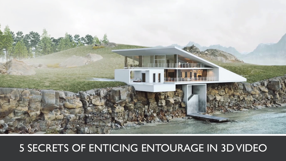 3D Photoreal Video for a House by the Water