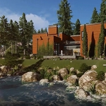 3D Photorealistic Animation Of A Wooden Rural Residence
