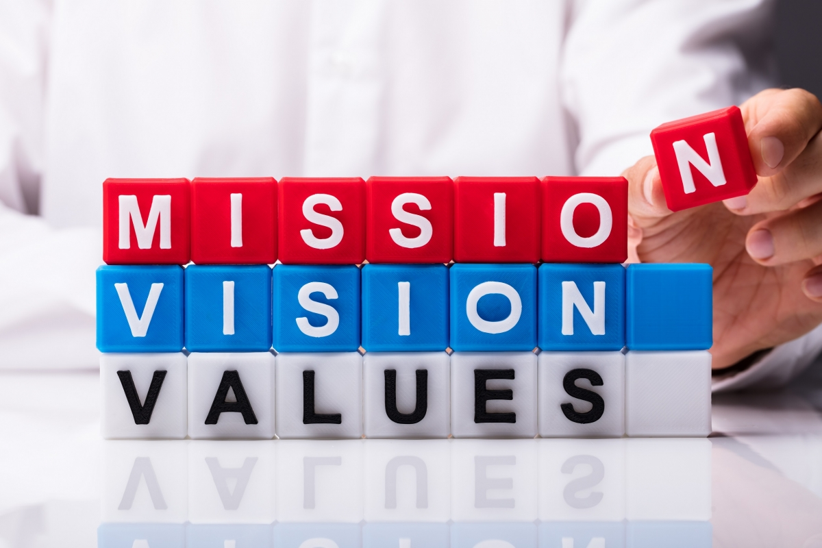 A Concept Symbolizing Mission, Vision, and Values