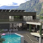 Photoreal 3D Animation Of A Luxruious Lakeside Retreat