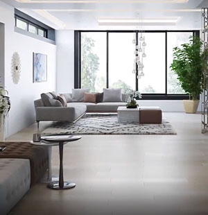 3D Animation Of An Apartment's Living Room