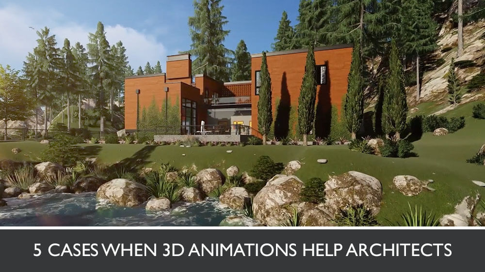 3D Animation Of A Rural Two-Story Home