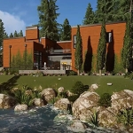 3D Walkthrough Of A Stylish Mountain Home