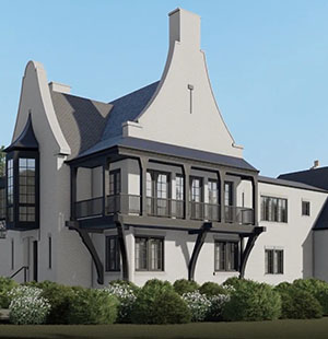 3D Architectural Animation Of A Mansion Exterior