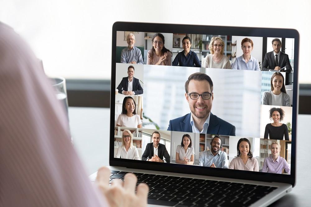 People Attending an Online Meeting