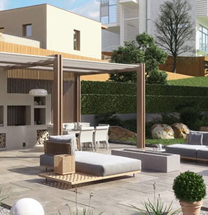 3D Exterior Animation of a House Terrace