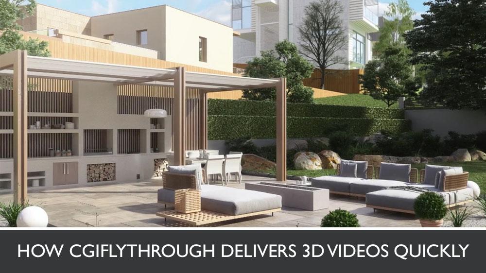 3D Animation of an Exterior House Terrace