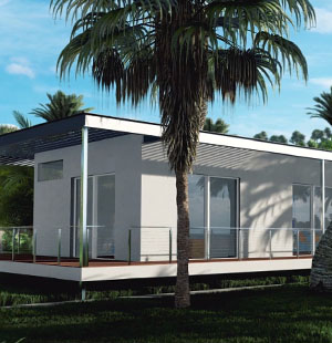 3D Visualization of a Jungle House Exterior