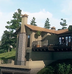 3D Architectural Visualization of a Mansion Front