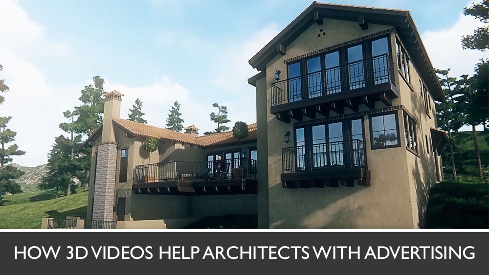 3D Architectural Animation of a Rural Mansion