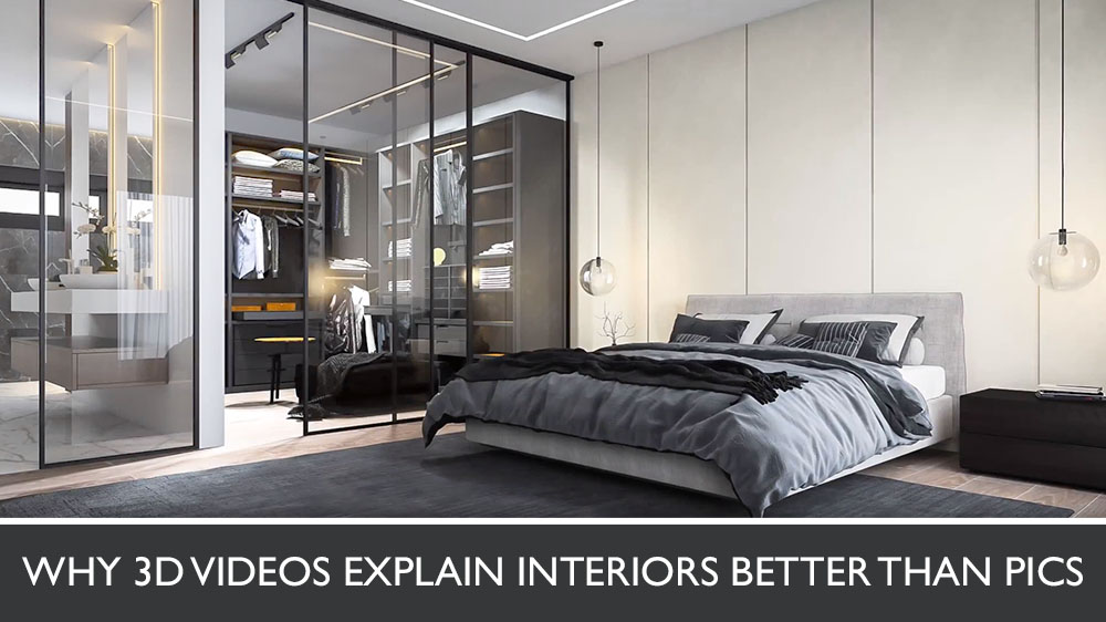 3D Animation of a Bedroom