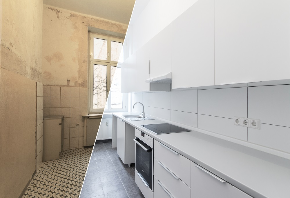 Stylish Before-After Comparison of Property with Virtual Staging