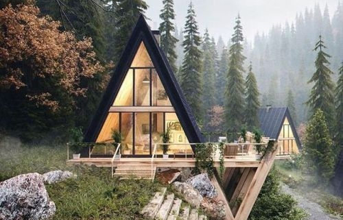 3D Animation of a House in a Forest