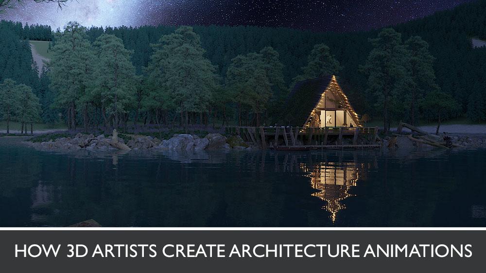 3D Exterior Animation of a Beach House