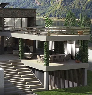 3D Animation for a Residence by the Lake