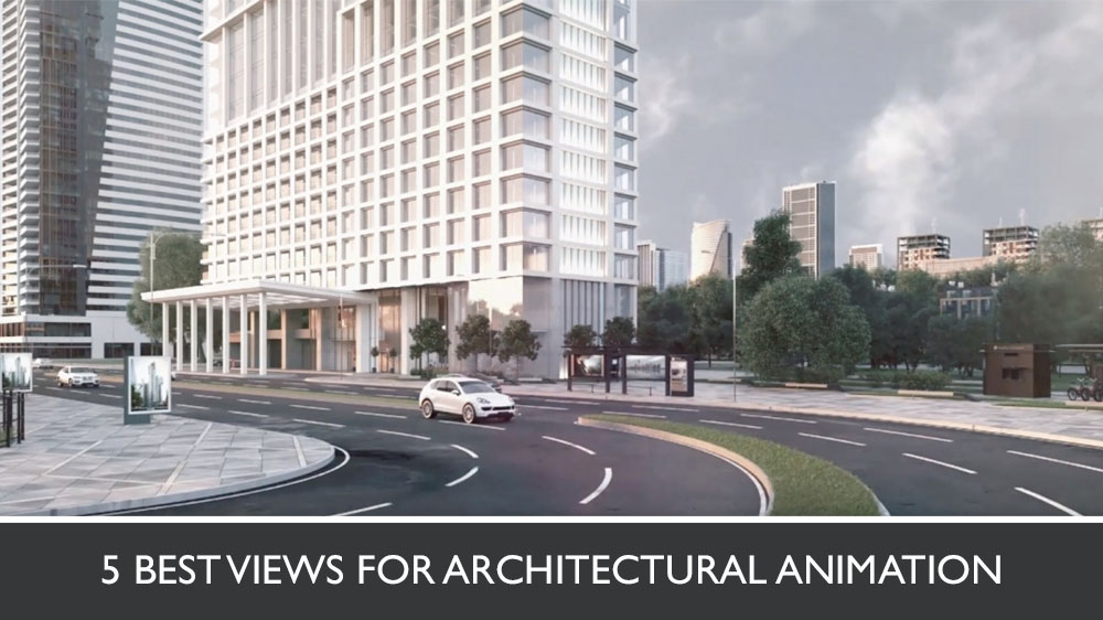 3D Animation of a Skyscraper Exterior