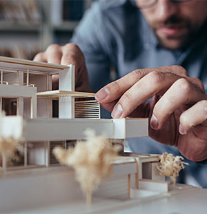 An Architect Working on a Mockup